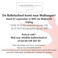 Nieuwe lessen in MFC de Malburcht